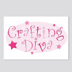 """""""Crafting Diva"""" [pink] Postcards (Package of 8)"""